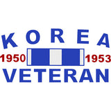 Korea Veteran With Ribbon Clear Decal
