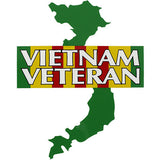 Vietnam Veteran With Ribbon And Map Clear Decal