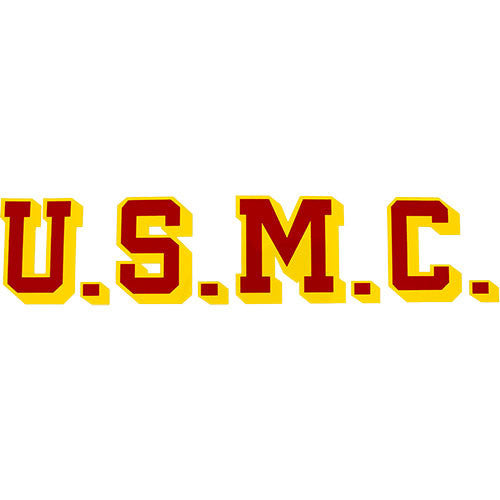 USMC 10 Inch Clear Decal