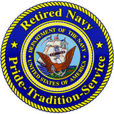 Retired Navy Pride - Tradition - Service Clear Decal
