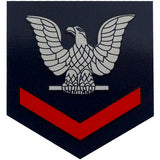 Navy Enlisted Rank Clear Large Decal