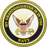 My Granddaughter Is In The Navy Clear Decal