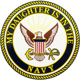 My Daughter Is In The Navy Clear Decal