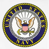 U.S. Navy with Seal Clear Decal