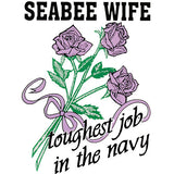 Seabee Wife Toughest Job In The Navy Clear Decal
