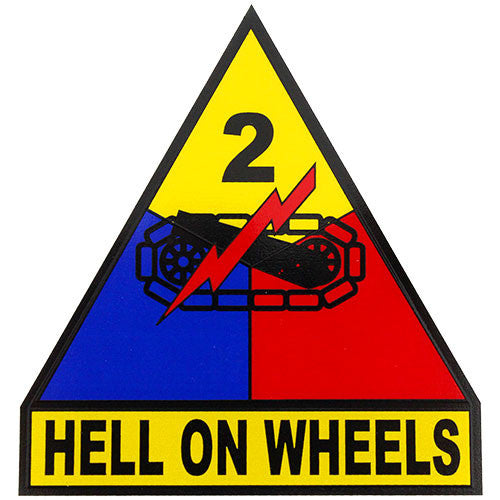 2nd Armored Division (Hell On Wheels) Clear Decal