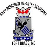 505th Parachute Infantry Regiment Clear Decal