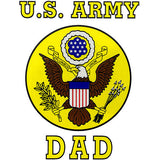 U.S. Army Dad Clear Decal