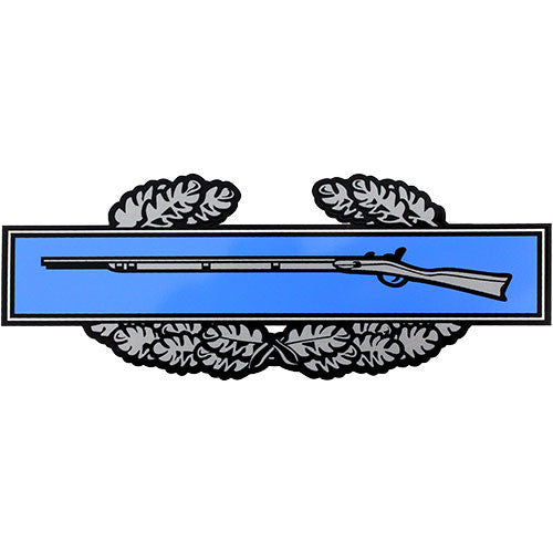 Combat Infantry Badge Small Clear Decal