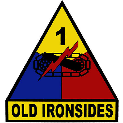 1st Armored Division (Old Ironsides) Clear Decal