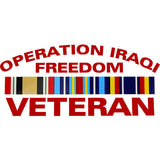 Operation Iraqi Freedom Veteran With Ribbon Clear Decal