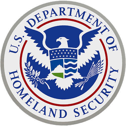 U.S. Department Of Homeland Security Clear Decal