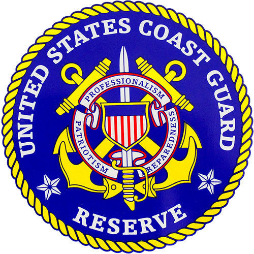 U.S. Coast Guard Reserve Clear Decal
