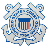 U.S. Coast Guard Round Clear Decal