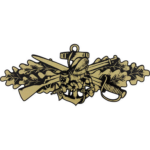 Seabee Combat Warfare Officer (Gold) Clear Decal