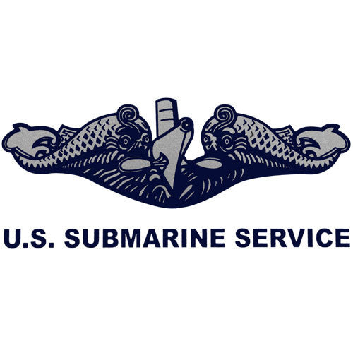 U.S. Submarine Service (Silver) Clear Decal