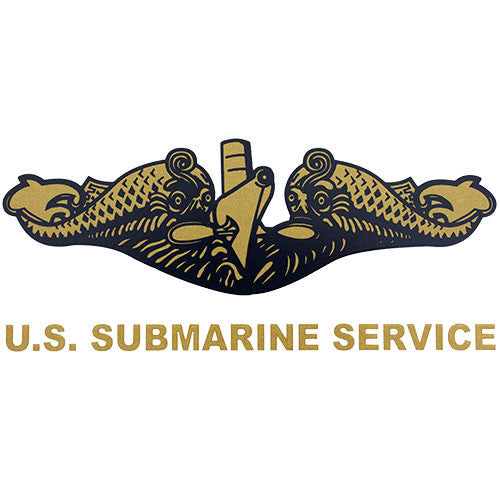 U.S. Submarine Service (Gold) Clear Decal