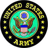 U.S. Army Round Clear Decal