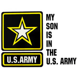 My Son Is In The U.S. Army With Star Clear Decal