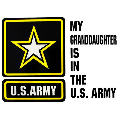 My Granddaughter Is In The U.S. Army With Star Clear Decal