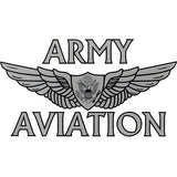Army Aviation With Aircrew Wing Clear Decal