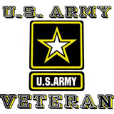 U.S. Army Veteran With Star Clear Decal
