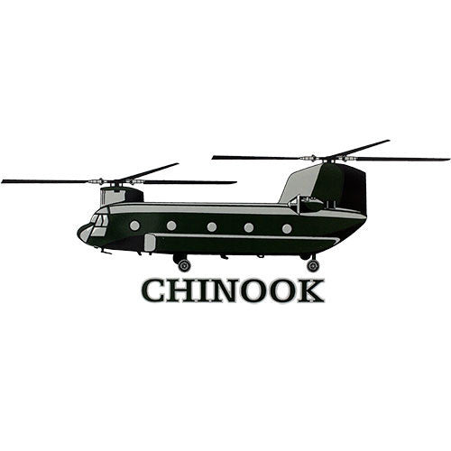 Chinook Helicopter Clear Decal