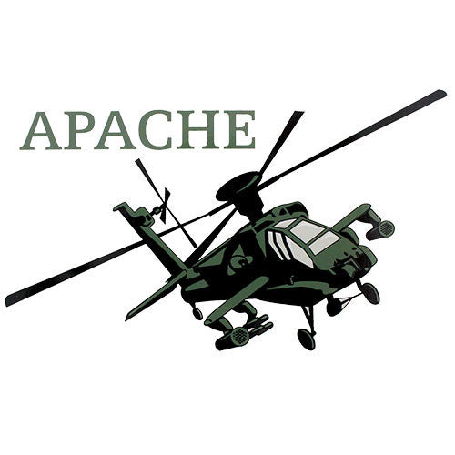 Apache Helicopter Clear Decal