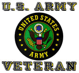 U.S. Army Veteran With Classic Crest Clear Decal