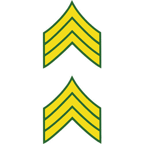 E-5 Army Sergeant Clear Decal 2 pc.