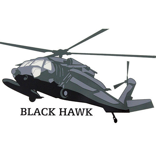 Black Hawk Helicopter Clear Decal