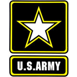 U.S. Army With Star Logo Clear Decal