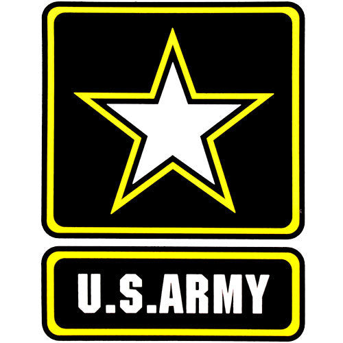U s army with star logo clear decal