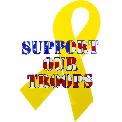 Support Our Troops Clear Decal