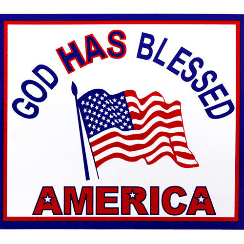 God Has Blessed America Decal