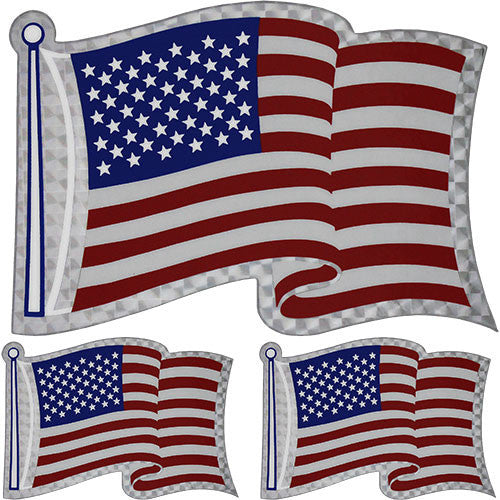 American Flag Prism Decal - Set Of 3