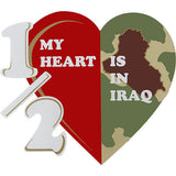 Half My Heart Is In Iraq Clear Decal