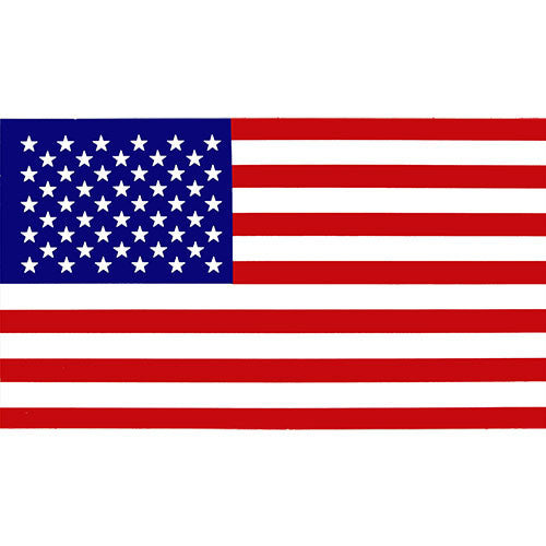 American Flag Decal - 2 x 4 Inch Sticker