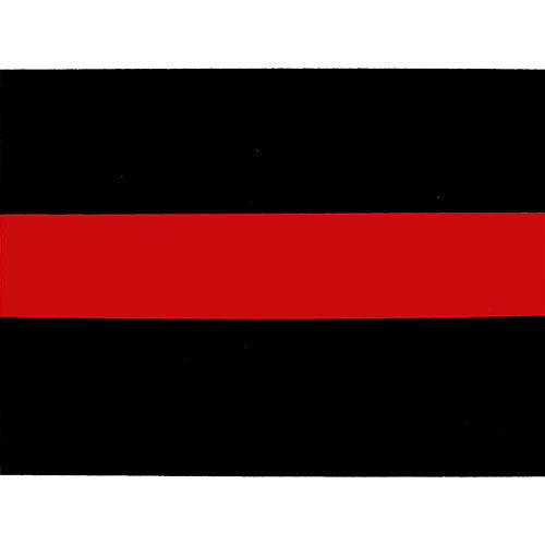 Red And Black Stripe Decal