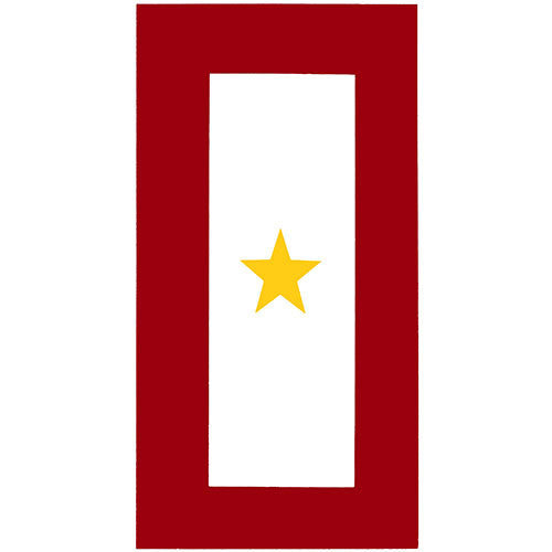 Gold Star Service Banner Decal