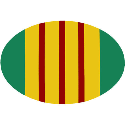 Vietnam Veteran Oval Decal 2 x 3 Inches