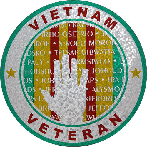 Vietnam Vet Ribbon Memorial 4 Inch Prism Decal