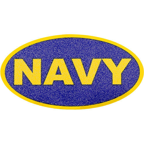 Navy Glitter Decal