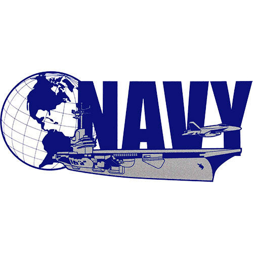 Globe and Ship Clear Decal