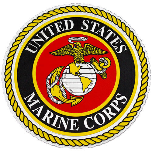 USMC Emblem Embossed Foil Decal