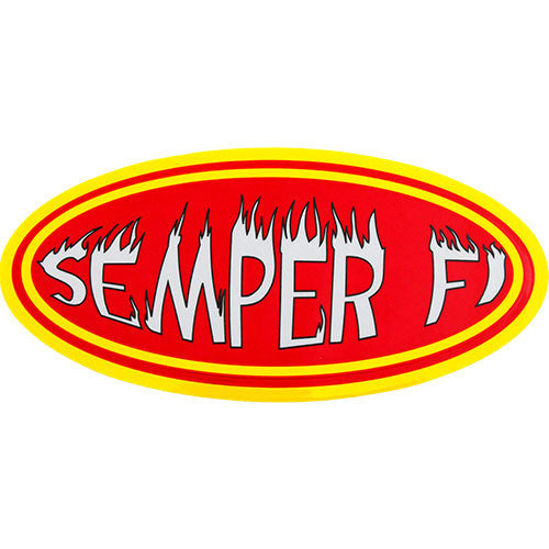 Semper Fi Reflective Small Decal