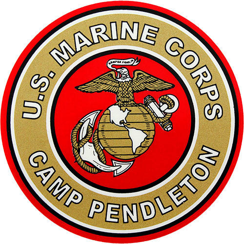Camp Pendleton Clear Decal