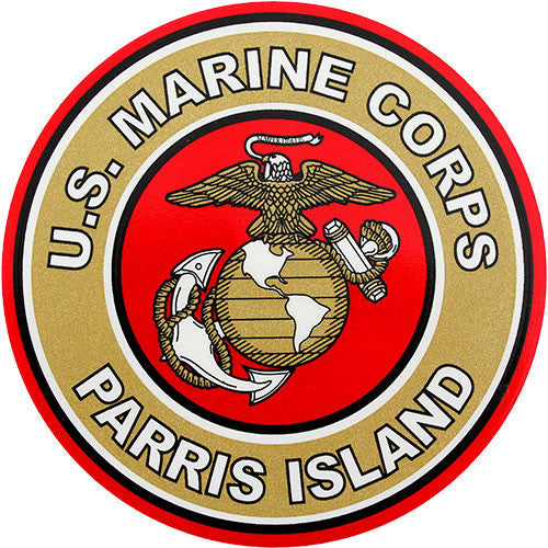 Parris Island Clear Decal