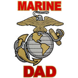 Marine Dad Clear Decal