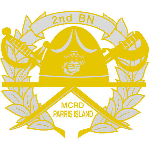 2nd Battalion Parris Island Clear Decal
